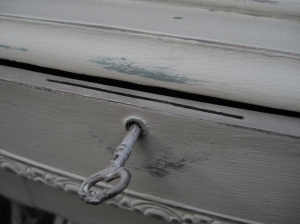 Antique dressing table detail