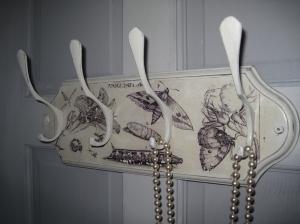 Shabby Vintage Coat Rack  Coat Hooks