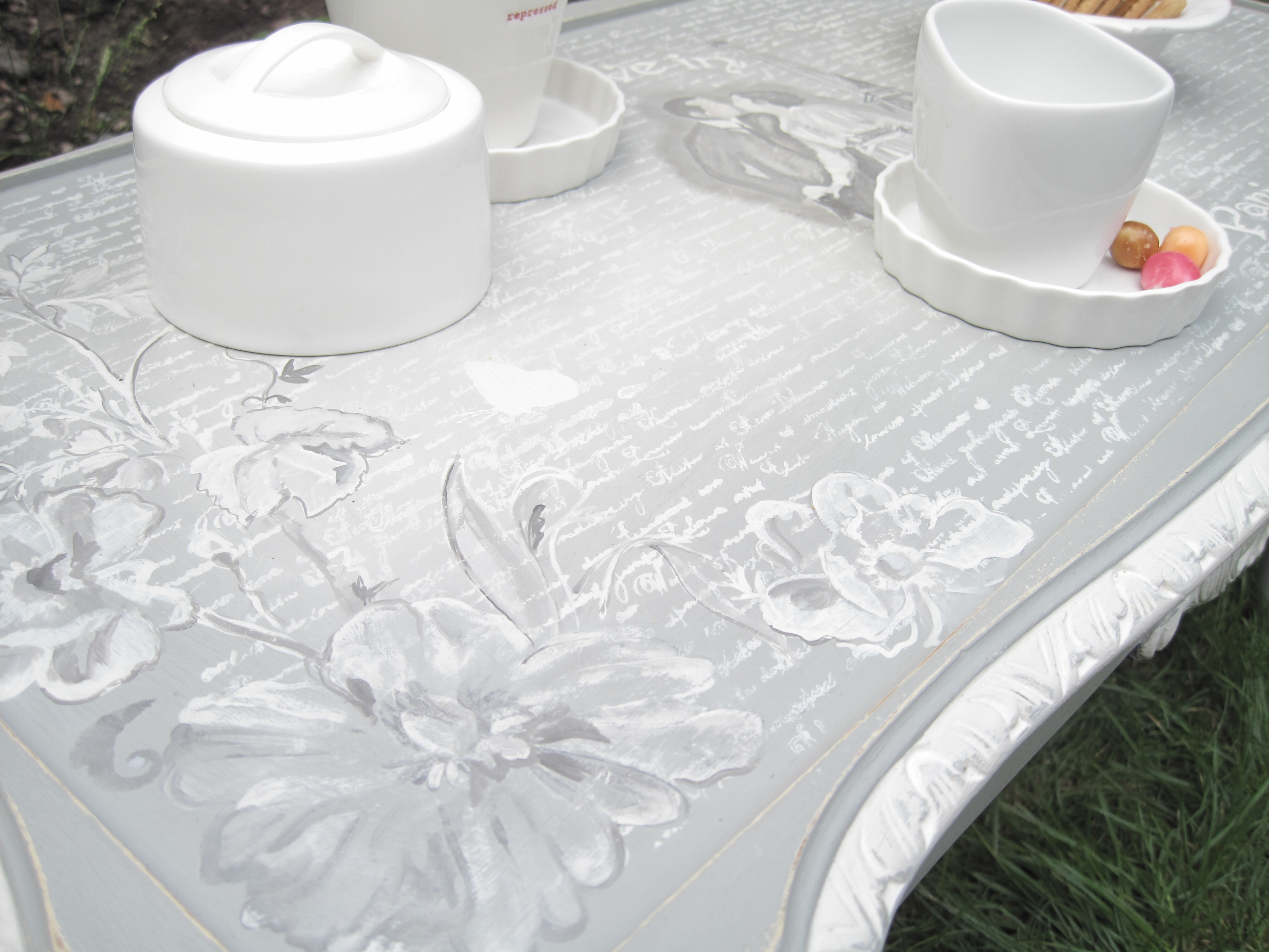 Romantic Love in Paris Coffee Table mission Project – shabby