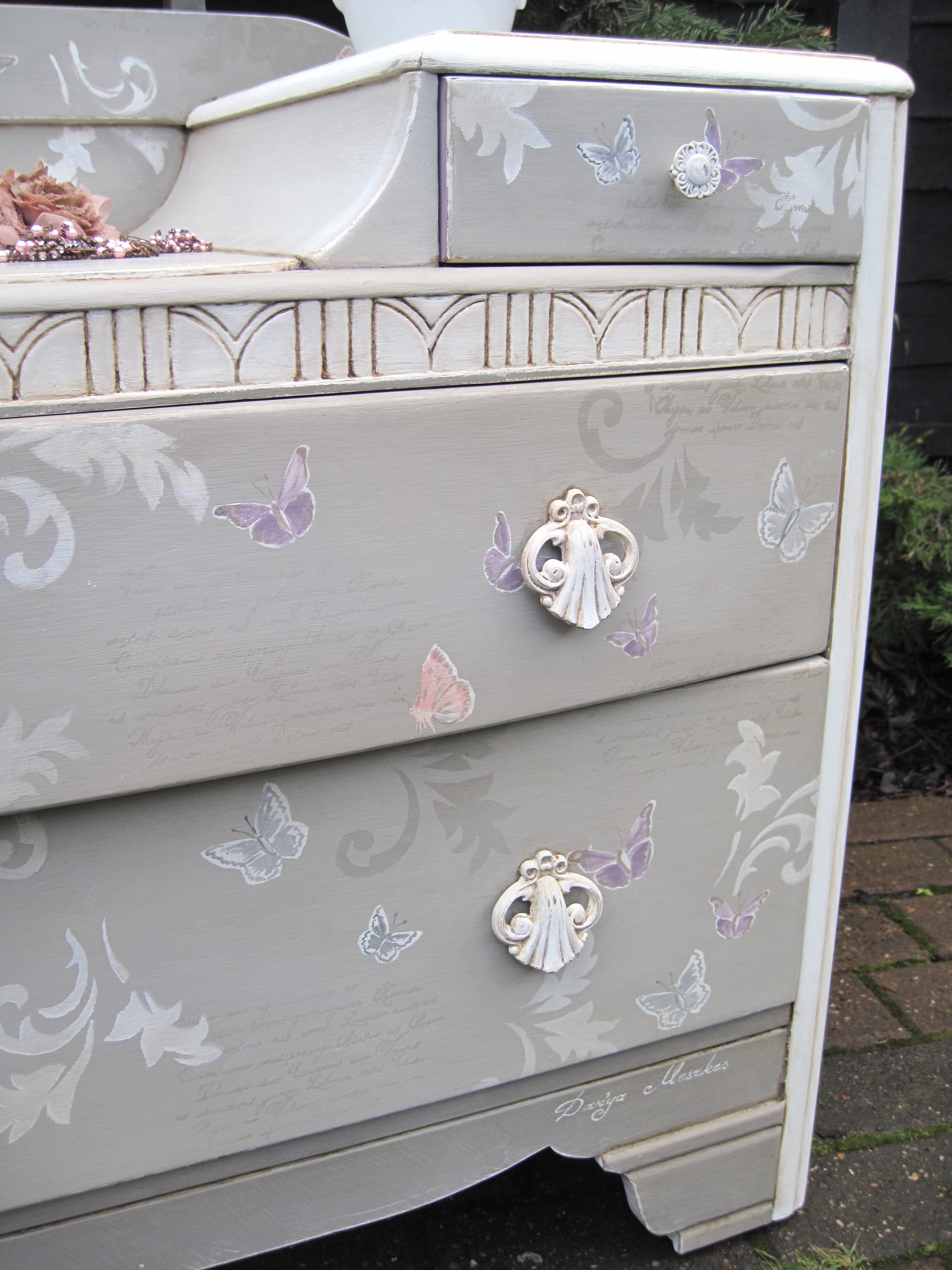 Shabby Chic Dressing Table Papillon