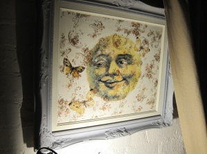 Smiley Moon Hand Made Picture Framed