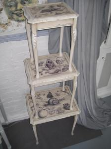 Shabby Chic Style Nest of Three Tables