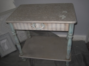 Papillons and Straps bedside cabinet