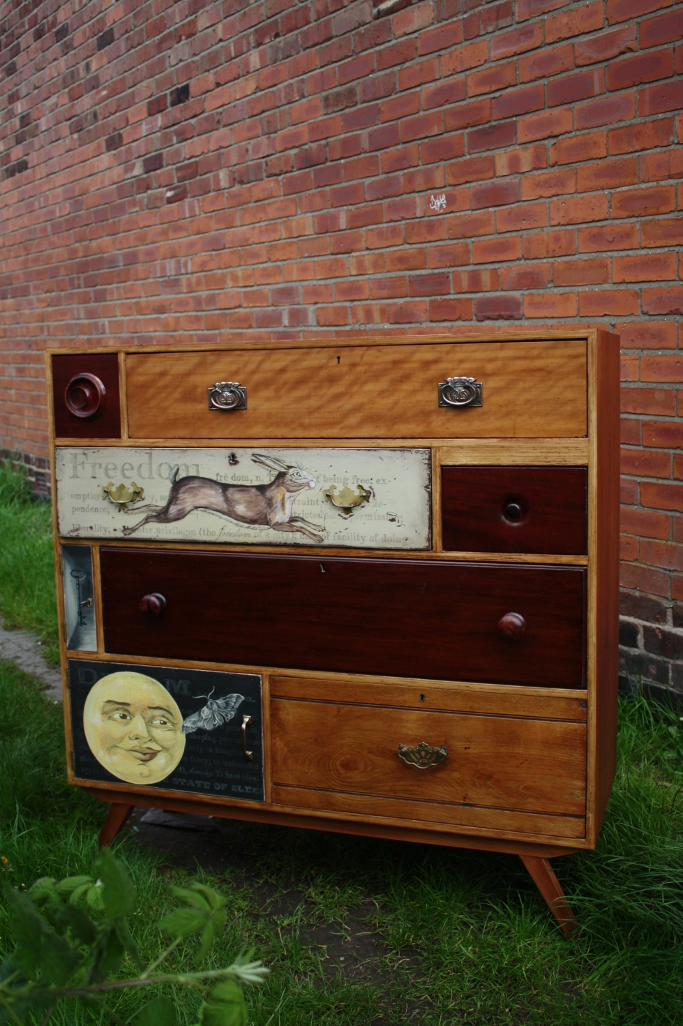 Chest of drawers Sideboard Tall Boy Handmade Bespoke Mix of Antique Vintage Retro Modern