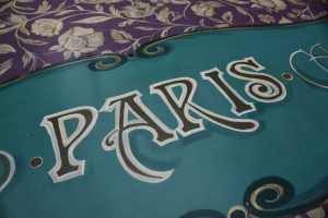 Paris Hand Painted Detail